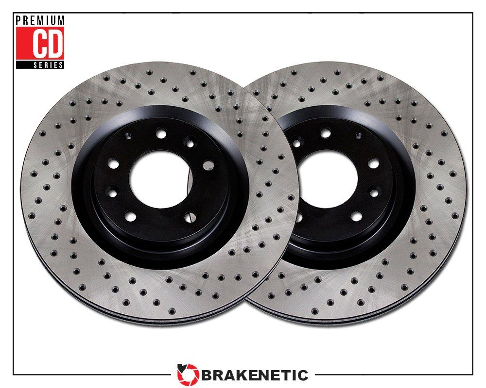 Cross Drilled Rotors >> Front Set Brakenetic Premium Cd Cross Drilled Brake Disc Rotors